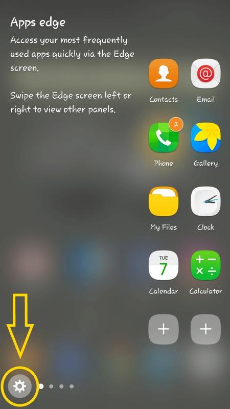 GS6 Edge Settings Icon