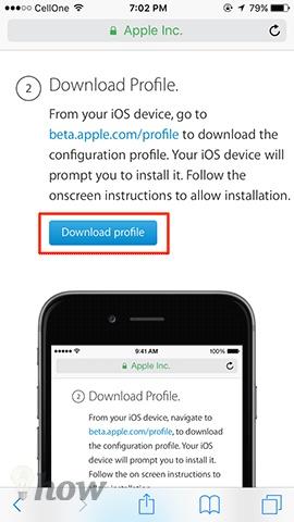 Install the iOS 10