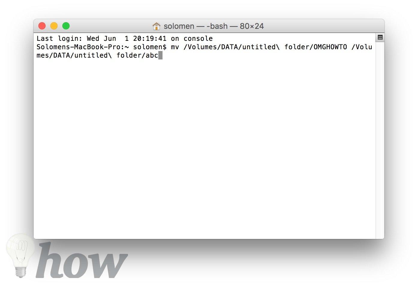 rename a file or folder on macOS