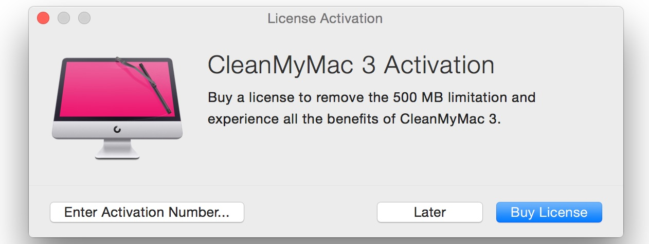 limit cleanmymac 3
