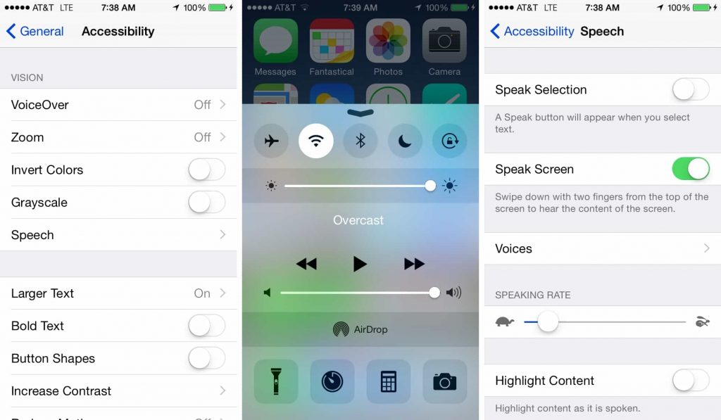 change font size iOS