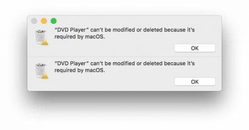 error delete app