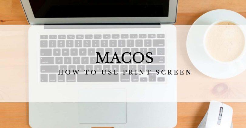 Use Print Screen on a Mac