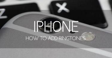 add ringtones on iPhone