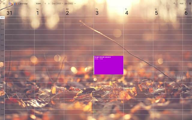 background google calendar