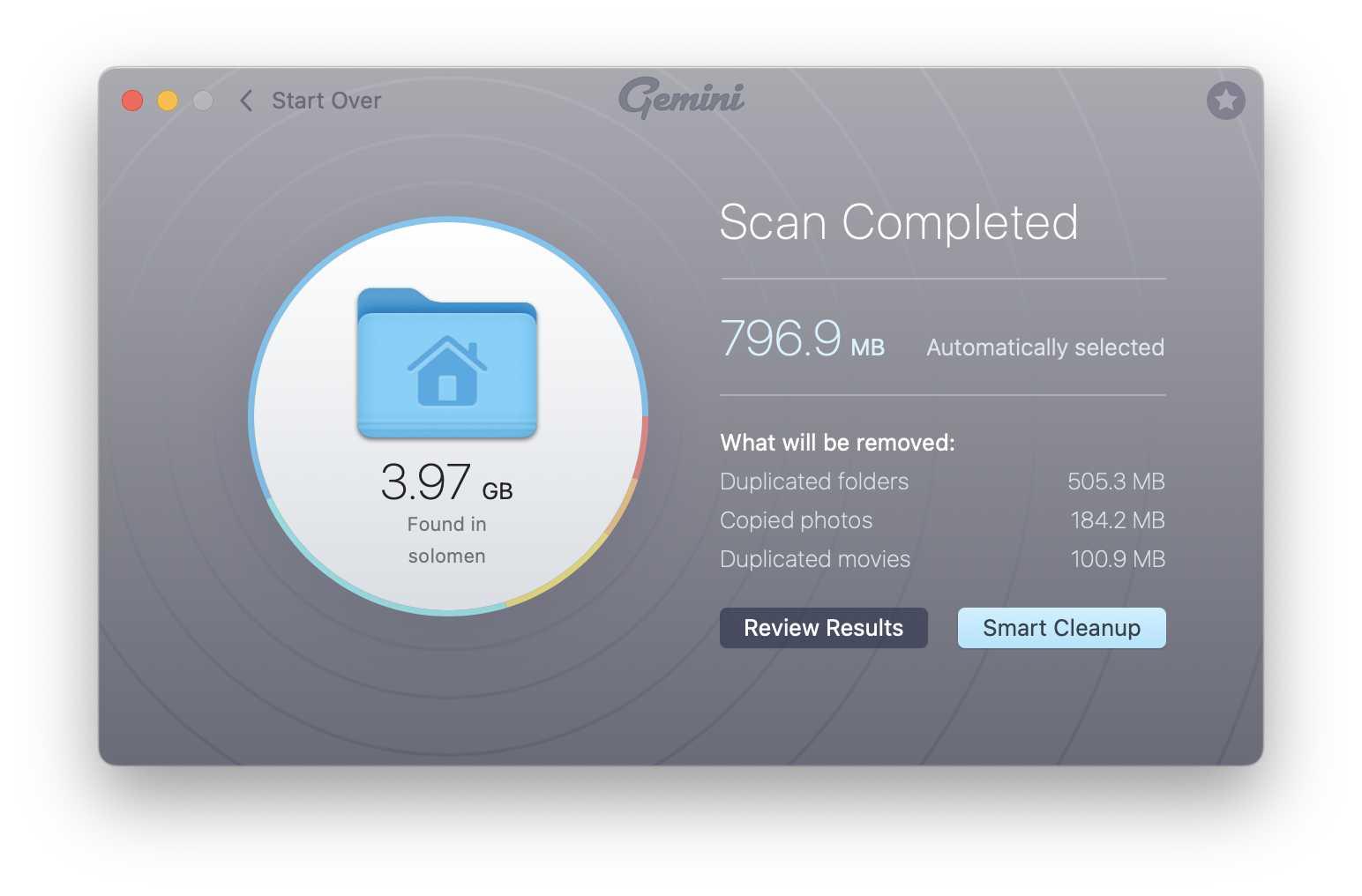 Duplicate File Finder Gemini MacPaw