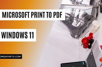 Microsoft Print to PDF in Windows 11
