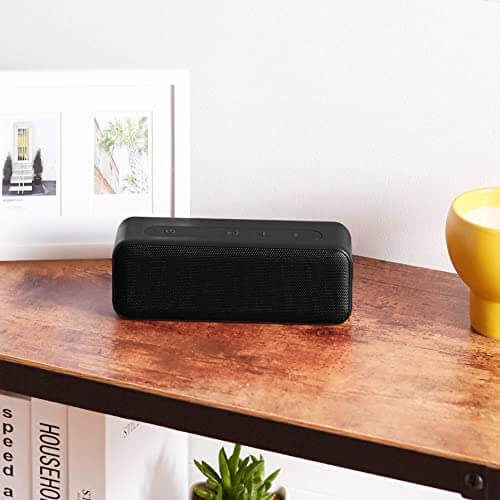 Amazon Basics 15-Watt Bluetooth Stereo Speaker with Water Resistant Design
